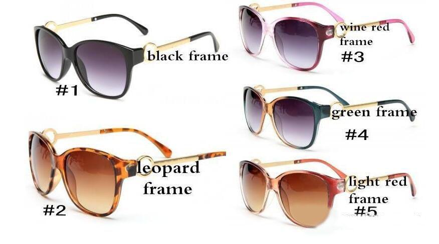 de metal de Verão Mulheres óculos Adulto Óculos de sol das senhoras da forma Preto Óculos meninas condução Sun Glasses frete grátis