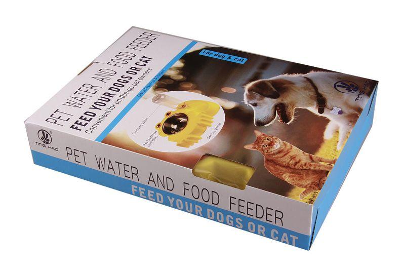 Protable функциональный шар воды любимчика нержавеющей стали и воды любимчика фидера еды автоматический с бумажным розничным пакетом