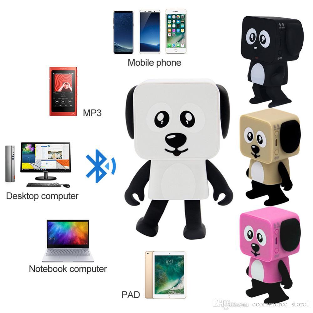 Mini Dancing Bluetooth Speaker Multi-Function innovative Smart Robot Dog Speakers Portable Bluetooth Loudspeaker Creative Gift Toys