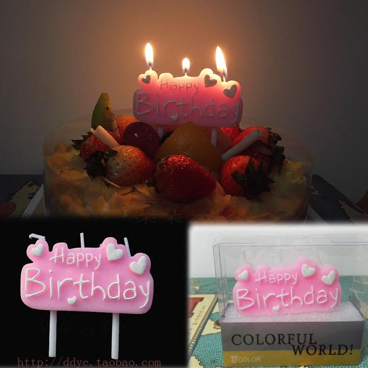 2019 Candle Pink White Embellishment Love Happy Birthday Letter Creative From Instrumenthome 225