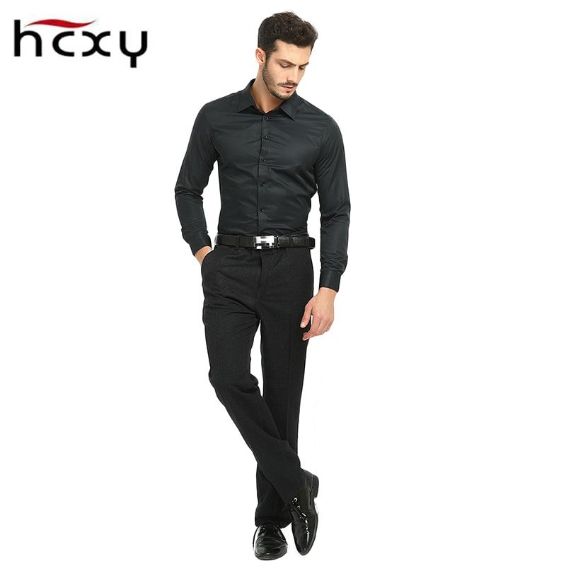 9709a228ce HCXY2017New High Quality Men Casual pants winter Male Classic Business  Casual Trousers Men s black Work clothes Large size 40