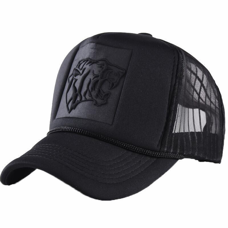 Compre 2018 Hip Hop Negro Estampado De Leopardo Gorras De Béisbol Curvado  Verano Malla Snapback Sombreros Para Mujeres Hombres Casquette Camionero A   11.99 ... 03dec7bbe2b