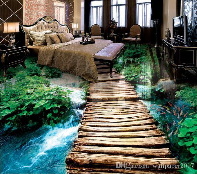 Satın Al Köprü Su Banyosu 3d Kat üç Boyutlu Boyama Zemin Duvar