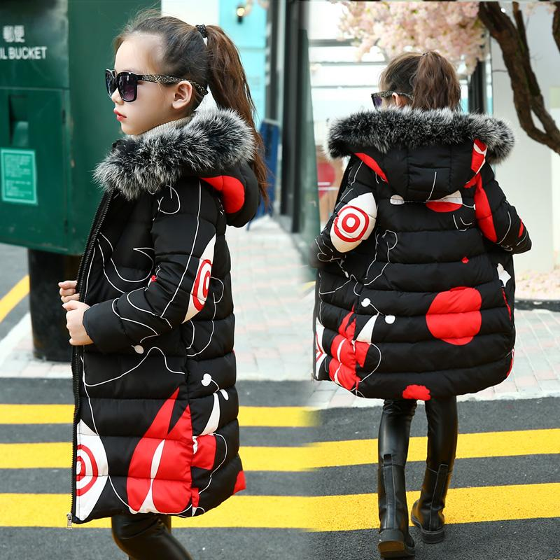 0e4e4ef8c714 Teenage Girls 2018 New Black Red Thick Coat Winter Wear Costume For Size 6  7 8 9 10 11 12 13 14 Years Child Casual Down Jackets Girls Blue Winter Coat  ...