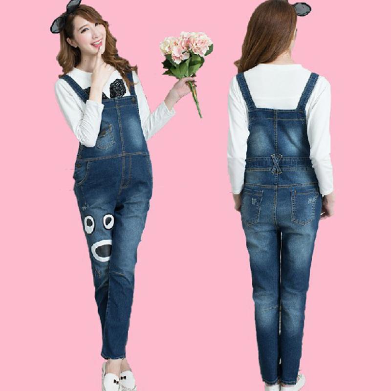 c1154548bac97 Female Pants Women's Jeans For Pregnant Women Maternity Overalls Denim  Trousers Spring Autumn Jumpsuit Pregnancy Clothes GH166