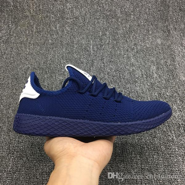 e11e40c9a640e 2019 Cheap New Mens Sneakers Tennis HU Casual Shoes Womens Lightweight Shoe  Outdoor Running Shoes Navy Blue Free Delivery From Chenjintong