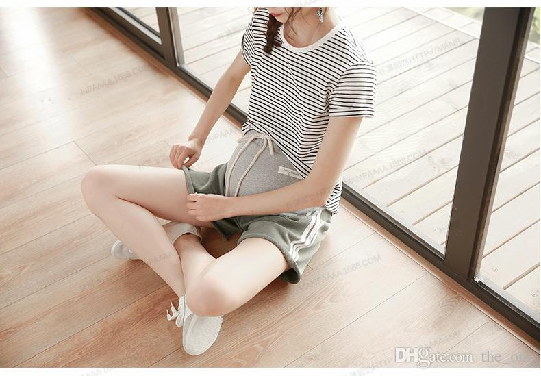 2018 Summer New Pregnant Shorts Korean Style Pure Cotton Loose Casual Sports Women Abdominal Shorts Maternity Elastic Hold Bottoms