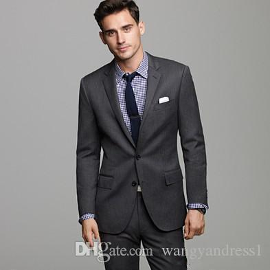 New Custom made wedding Suits Handsome Tuxedos Formal Suits Charcoal Business/Prom Wears Groomsman suits Jacket+Pants