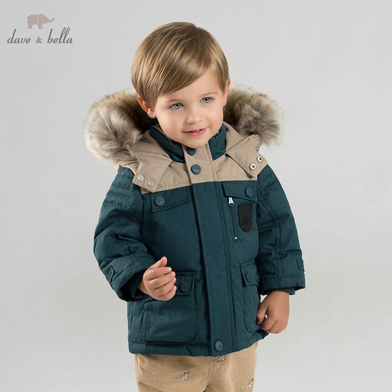60cd7272b473 DB8690 Dave Bella Baby Boy Down Jacket Children Hooded Outerwear ...