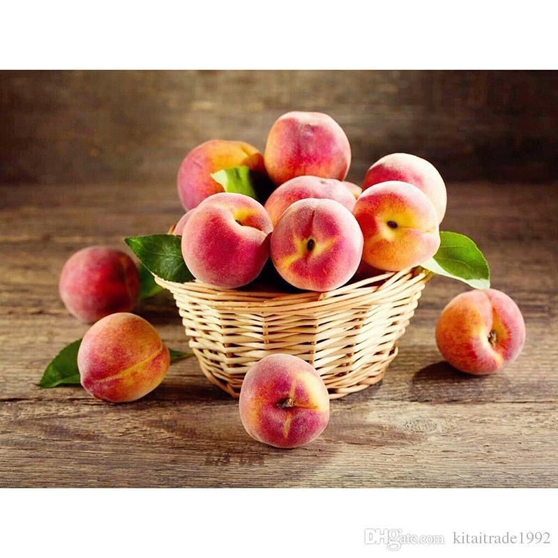 Satın Al Sıcak Satış şeftali Elmas Boyama Meyve Elmas Kitleri Tam