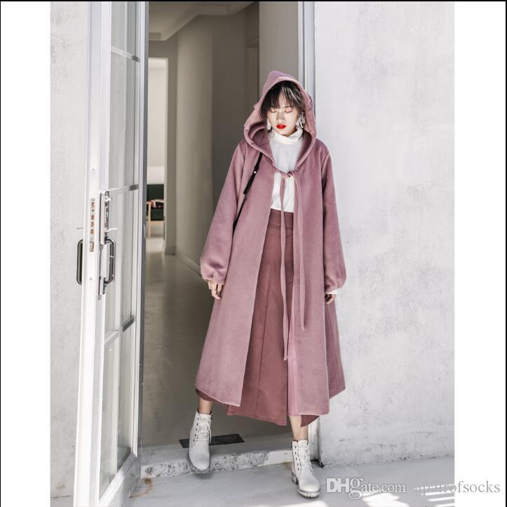dc5d6dec2dec Hepburn s Wind Woolen Coat Women s Autumn And Winter Woolen Woolen ...