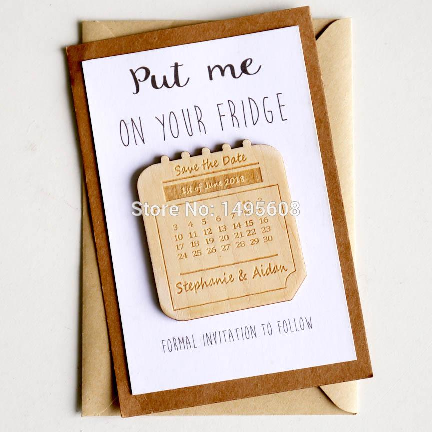 Wedding Save The Date Magnets Personalized Wedding Invitation