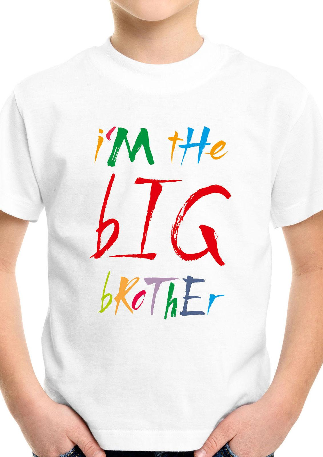 I Am The Big Brother Funny Kids Boys White Top T Shirt Special Birthday Gift 35 Unisex Casual Vintage Shirts From Clothing Dealss