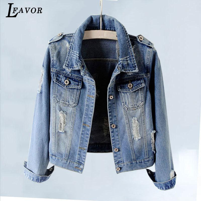 23d9fbd5d85 Plus Size 5XL 6XL Autumn Denim Jacket Women 2018 Long Sleeve Slim Outwear  Light Washed Short Jeans Jacket Coats Casaco Feminino Y18110501 Women  Leather ...