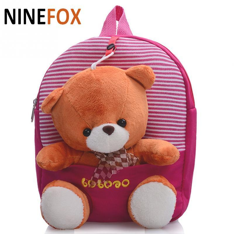 f1b81b1f8587 2016 Cartoon Kid School Backpack For Child School Bag For Kindergarten Girl  Baby Student Boy Cute Bear Backpack P5 Toddler Backpacks Backpack Bags From  ...