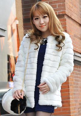 75216d5c62c 2018 Women s Faux Fur Overcoat Casaco Feminino Medium-long Fluffy Winter Thick  Fur Coat Slim Imitation Rex Rabbit Fur Coats 7XL Online with  135.76 Piece  on ...