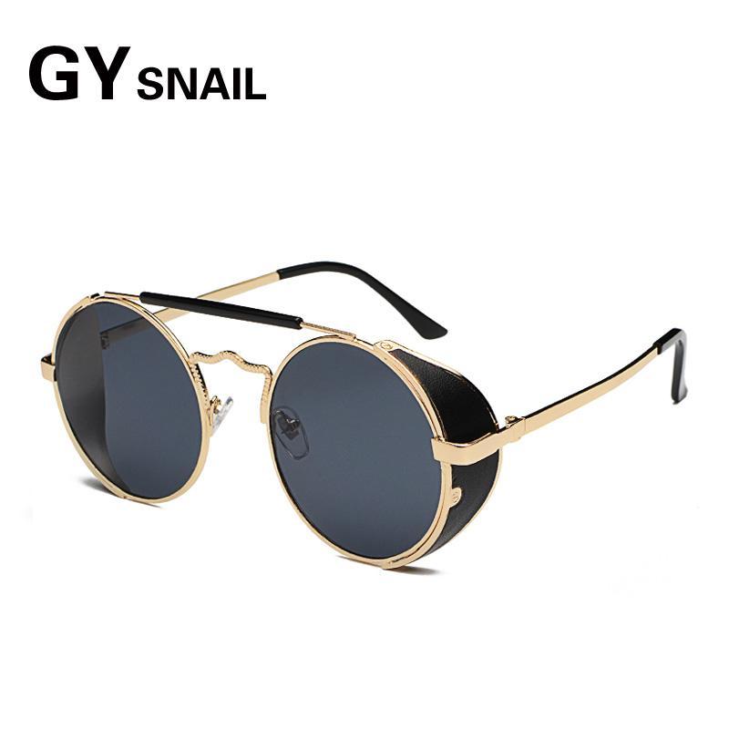 7680f4b3e0ad GYSNAIL Vintage Gothic Sunglasses Men Steampunk Round Sun Glasses For Women  Mirror Female Retro Goggles 2018 Oculos Gafas De Sol Best Sunglasses Dragon  ...