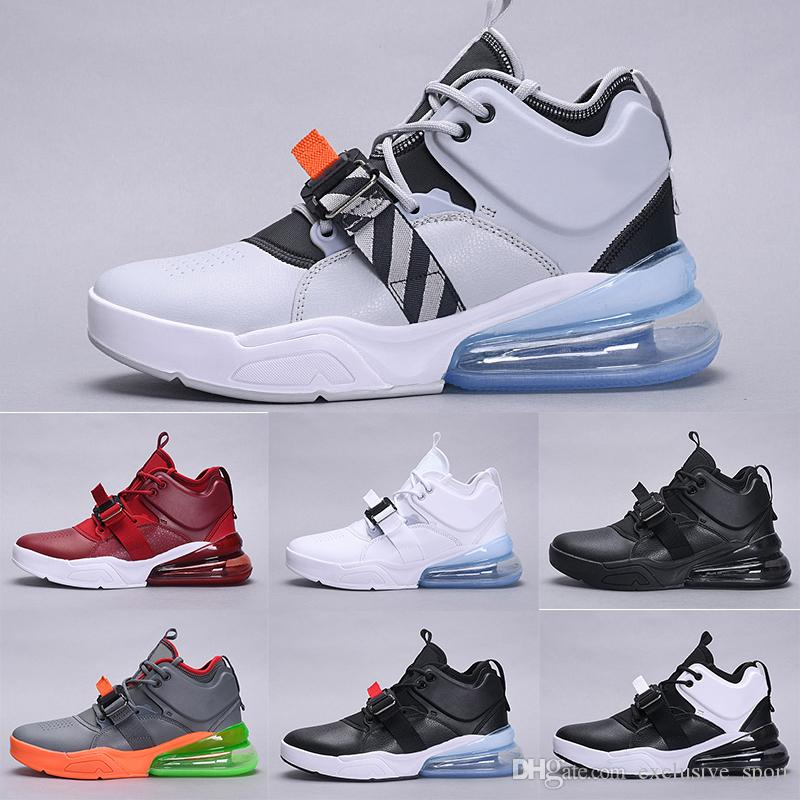 4283170f47a39 Newest 270 High Running Shoes Men Core Triple Black White Dark Cool ...