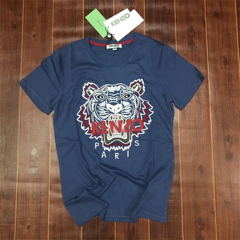 T Solicitude De Show Impression Courtes Commerce Tigre Col Shirt Conception Mode Manches Extérieur Produit Summer Rond Hommes 9IH2eWYED