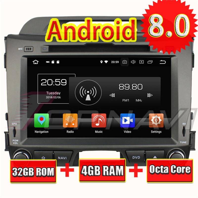 TOPNAVI 8'' Android 8 0 Auto Players for KIA Sportage 2010 2011 2012 Car  DVD Device Vehicle PC Multimedia Wifi Photo Viewer GPS