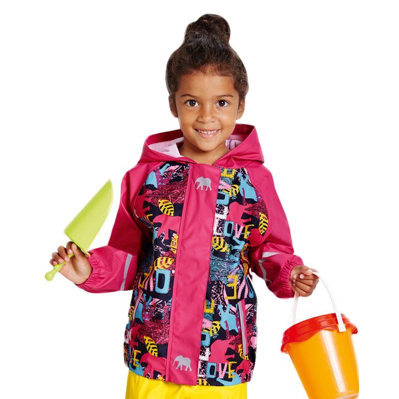 2017 الربيع الفتيات معطف الأطفال ملابس الأطفال بو الجلود معاطف للماء ويندبروف تنفس السترات في الهواء