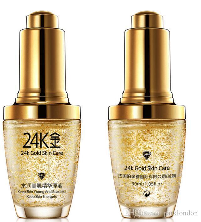2018 hot BIOAQUA 24K Gold Face Cream Moisturizing 24 K Gold Day Creams & Moisturizers 24K Gold Essence Serum New Face Skin Care