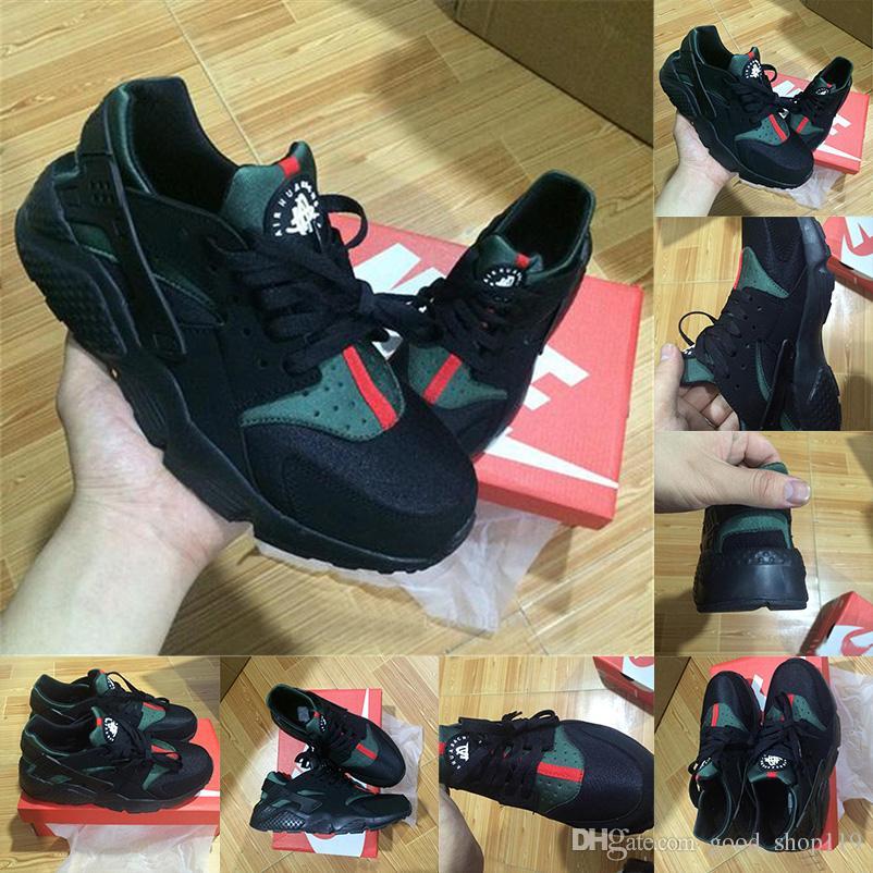 0bb5f95276e1c 2018 Huarache Ultra Running Shoes Men Women Huaraches Triple Black ...