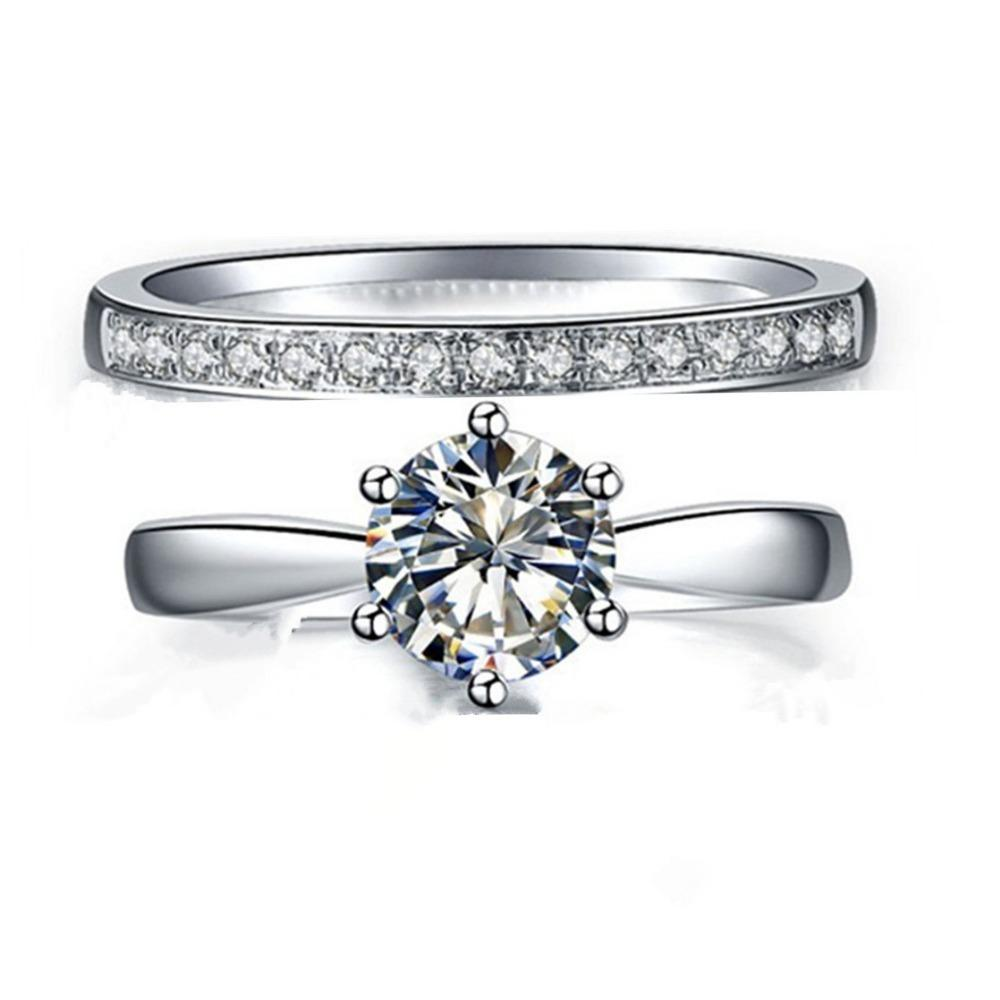 2018 Genuine Silver Engagement Ring 2 5 Carat Jewellery Sona