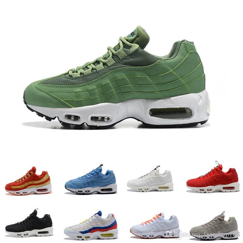 86ac8504ca2 2018 New 95 OG Men Running Shoes Tripel White Black Men Shoes Casual ...