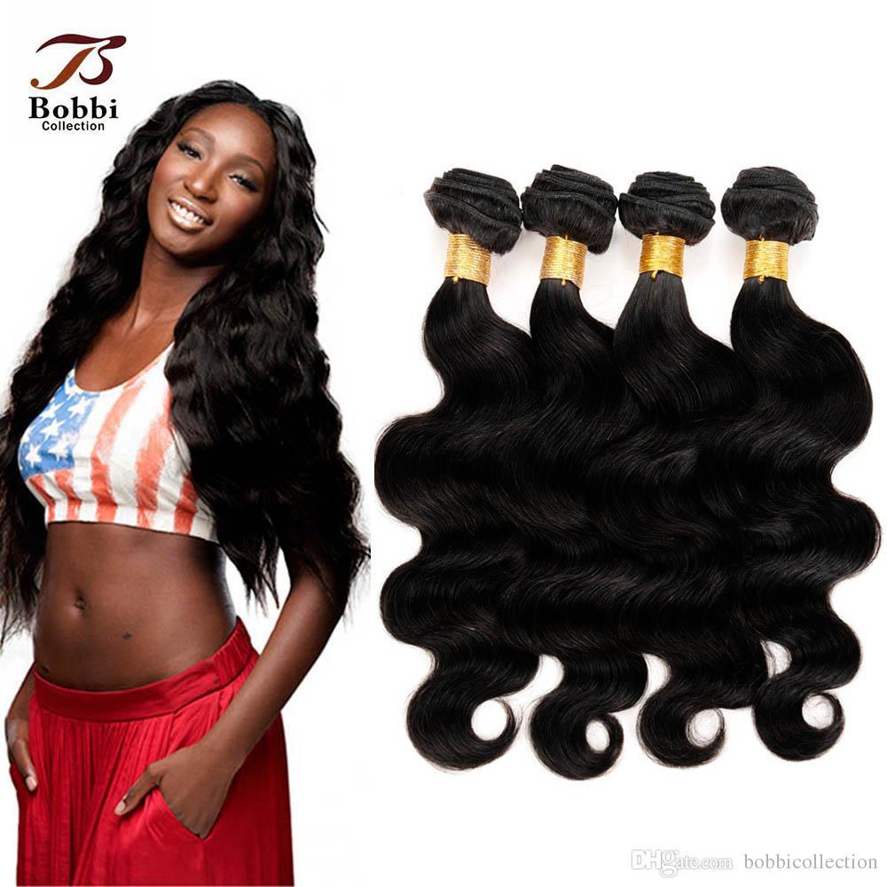 7a Indian Hair Extensions Natural Black Peruvian Malaysia Brazilian