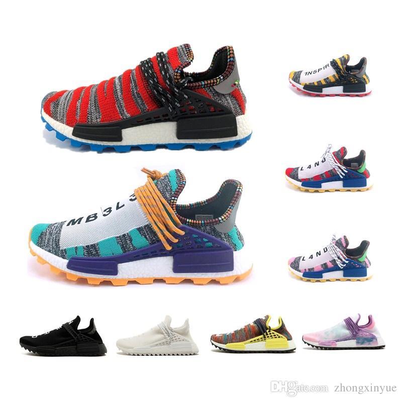 2f2bf43a3 Compre Raza Humana Pharrell Williams Hombres Zapatillas Creme X NERD Solar  Pack Afro Hu Nerd Negro Para Hombre Zapatillas Deportivas De Mujer Con Caja  A ...
