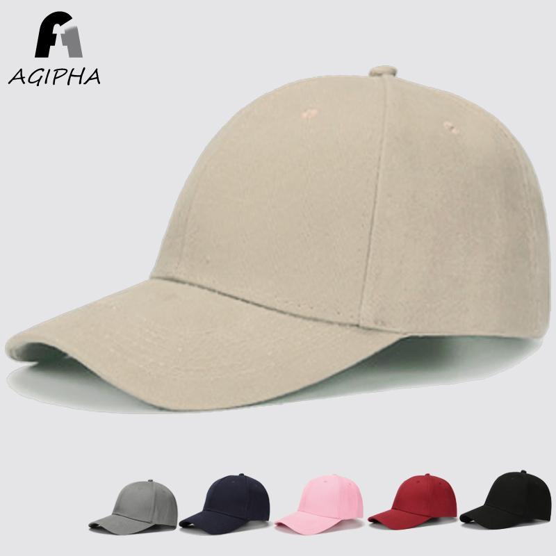 c7f105ca843 Solid Cotton Baseball Cap For Women Men Snapback Dad Hat With Retro Casual  Casquette Adjustable Durable Metal Buckle Black Pink Caps Dm001 Cool Hats  Lids ...