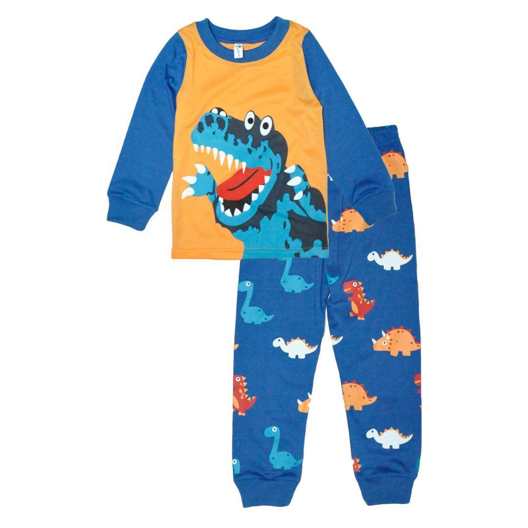 ebe2829f3114 Kids Pajamas Sets Boys Dinosaur Pattern Night Suit Children Cartoon ...