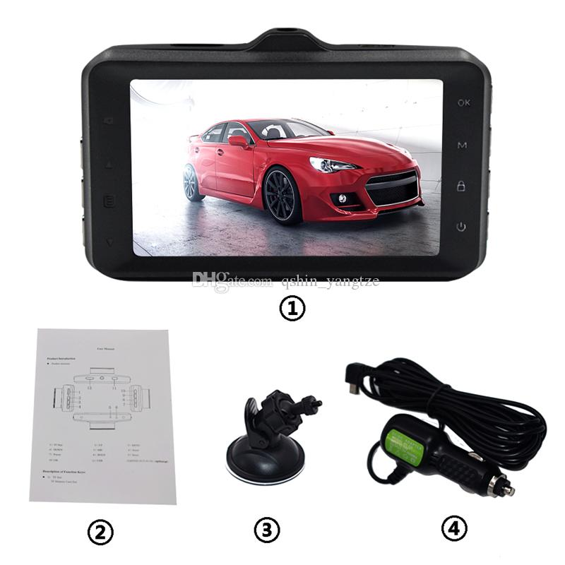 Novelty car DVR driving recording camera dash cam recorder 3 inch screen full HD 1080P 170 degrees loop recording G-sensor motion detection