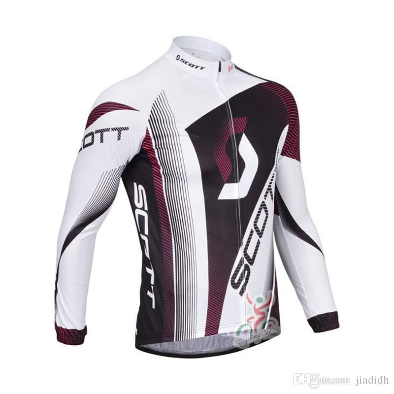 2018 Pro Team Scott Long Sleeve Cycling Jersey Mtb Bicycle Tops ... 0c99dcae7
