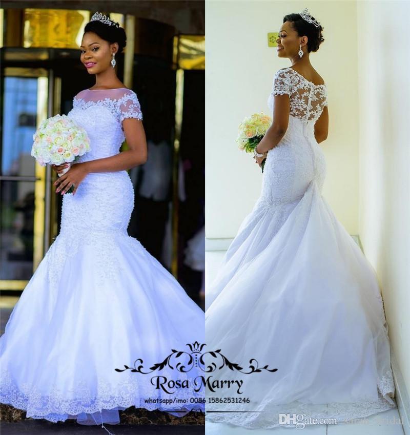 Princess African Bellanaija Mermaid Wedding Dresses 2018 Plus Size ...