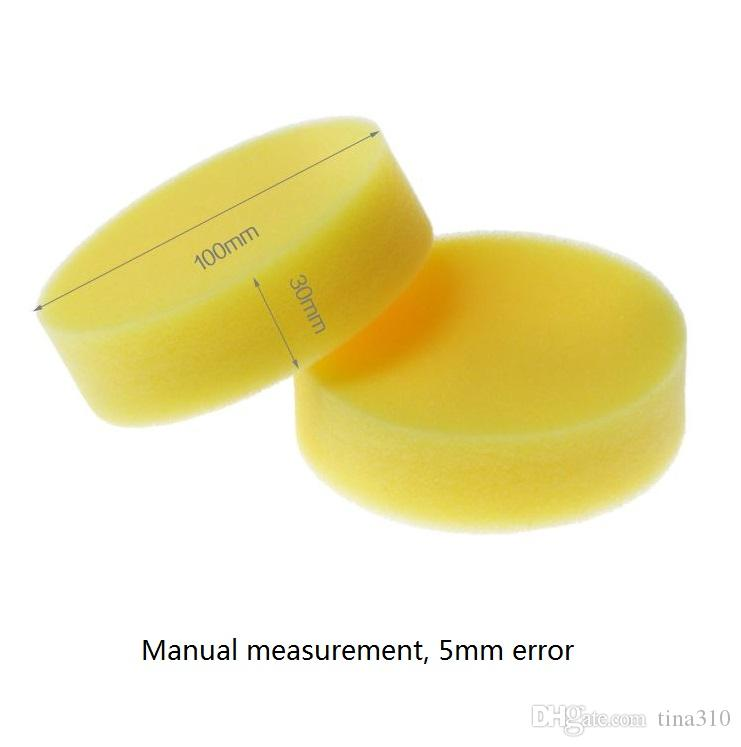 The new High density washing sponge Waxed sponges without edge Round wash car /bag T4H0204