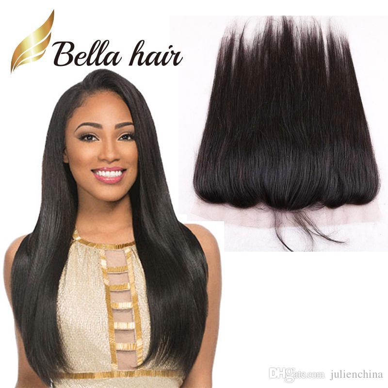 بيلا Hair® 13x4 الأذن إلى الأذن قبل التقطه الرباط أمامي إغلاق آدمي أعلى درجة 10A اللون الطبيعي بيرو حريري مستقيم شعر الإنسان