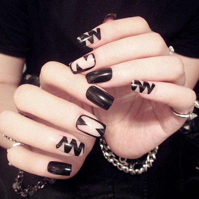 ZHOU Medium Length False Nails Magazine Fashion Design False Nails ...