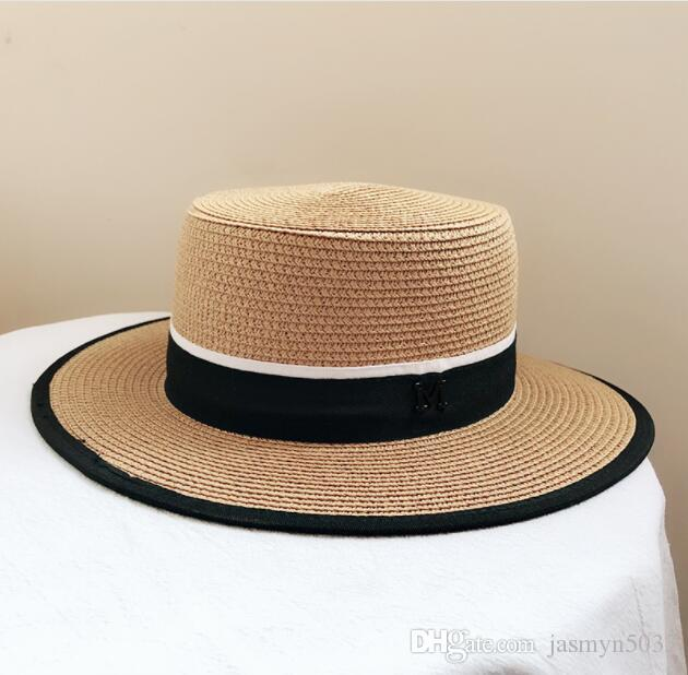 71f358003457a 2019 British Sun Hats Flat-top Straw Hat Ladies Sunscreen Hats Summer  Fashion Wild Sun Hat Flat-top Straw Visor Online with  16.34 Piece on  Jasmyn5033 s ...