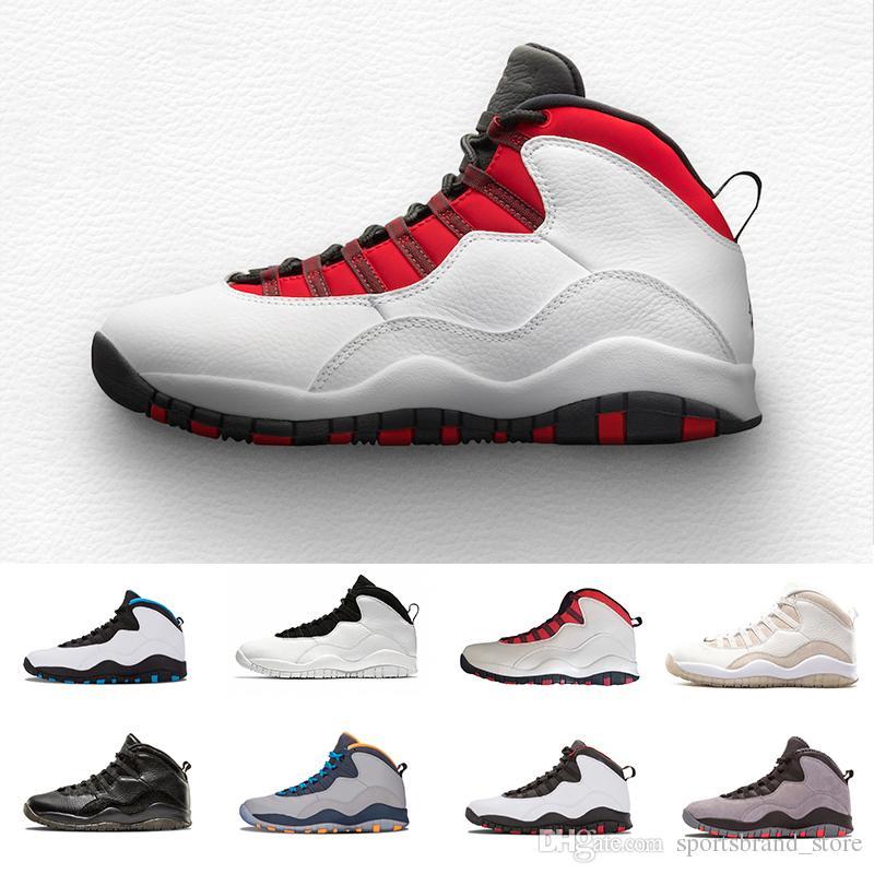 nouveau concept 6ab51 2248f Nike Air Jordan Retro 10 2018 Nouveaux Hommes 10 X Oreo Hommes Chaussures  de Basket-Ball De Mode Noir blanc Homme Sneakers Mens 10s jumpman Basket ...