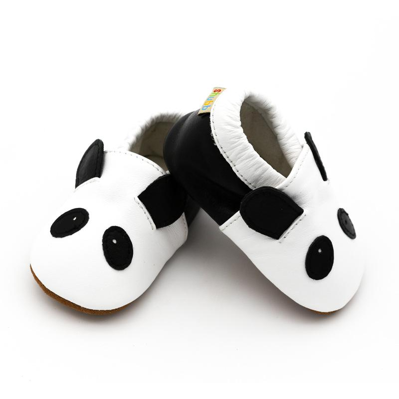 7ee0b3967890ab Newborn Cartoon Animals Panda Genuine Leather Baby Shoes Soft Soled Non  Slip First Walker Infant Baby Boys Girls Moccasins UK 2019 From Begonior
