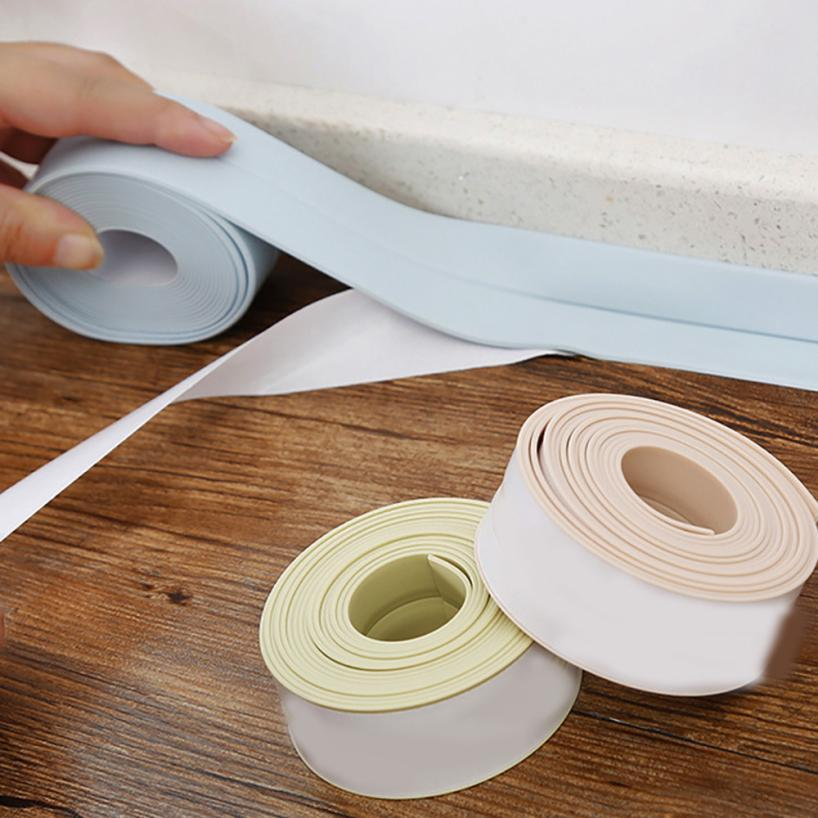 Review Best Self Adhesive Sink Waterproof Tape Kitchen Prevent Mildew Bathroom Shower Toilet Sealant Tapes Drop Shipping Under $27 14 Picture - adhesive sealant Plan