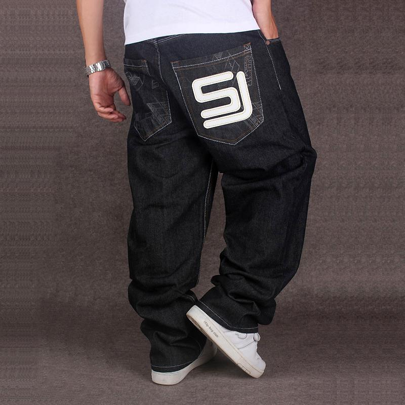 92b8d1c45165c 2019 European And American Men S Wear Fat Pants Hip Hop Hiphop Loose  Skateboard Trousers Men Wide Leg 2018 New Biker From Caicloth