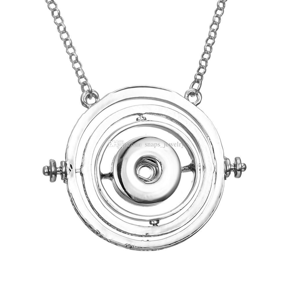 Noosa trozos de jengibre a presión botón joyería corazón triángulo encanto 18mm botón a presión collar para las mujeres