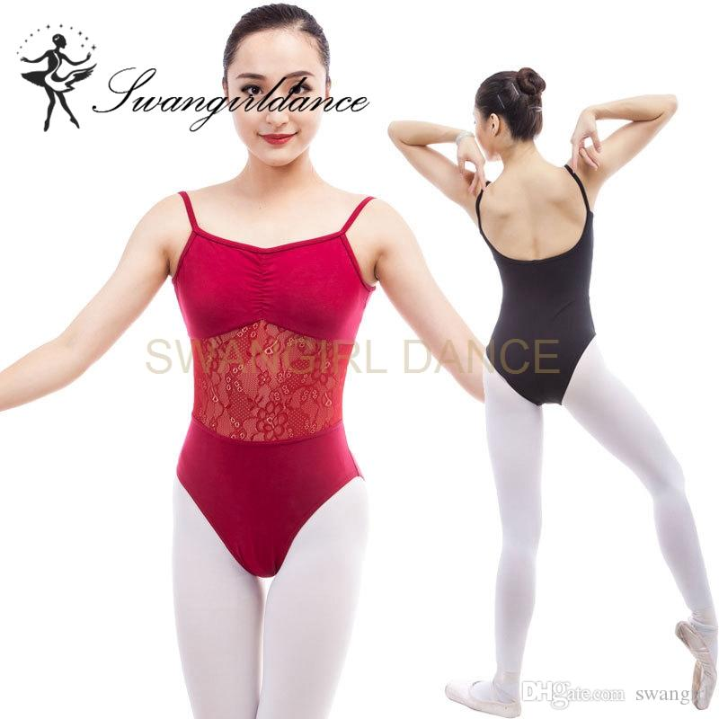 7343c8c0352e 2019 Latest Burgundy Adult Ballet Leotards Camisole With Lace Sexy Training  Gymnastics Dance Leotard Clothes Women CS0314 From Swangirl, $18.05 |  DHgate.Com