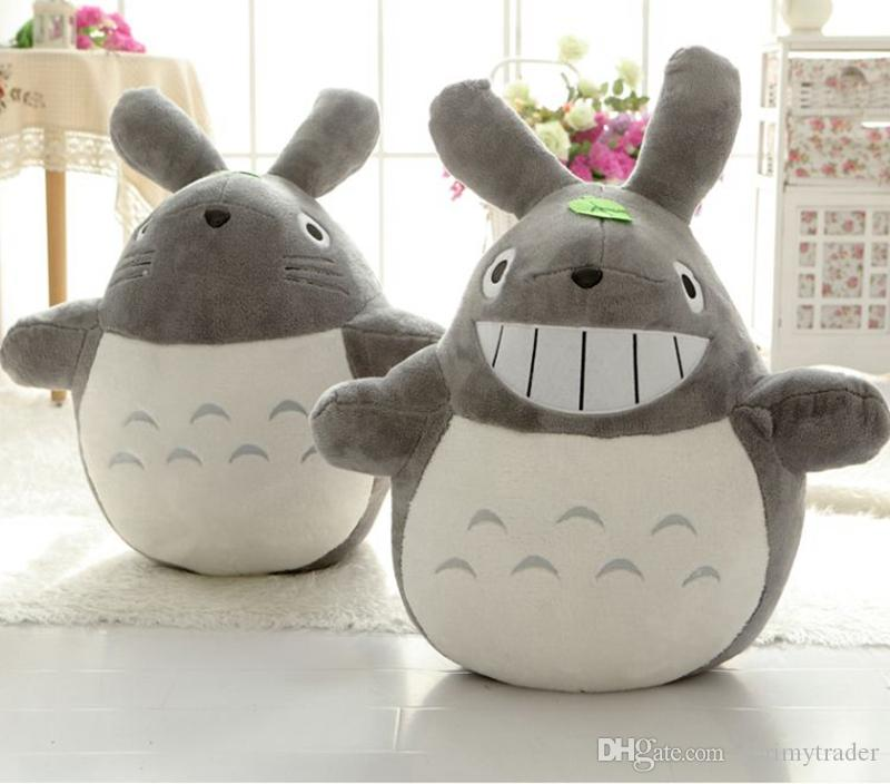 Dorimytrader Kawaii Japanese Anime Totoro Plush Toy Large Stuffed Soft Cartoon Totoro Kids Doll Cat Pillow for Children and Adults 180cm