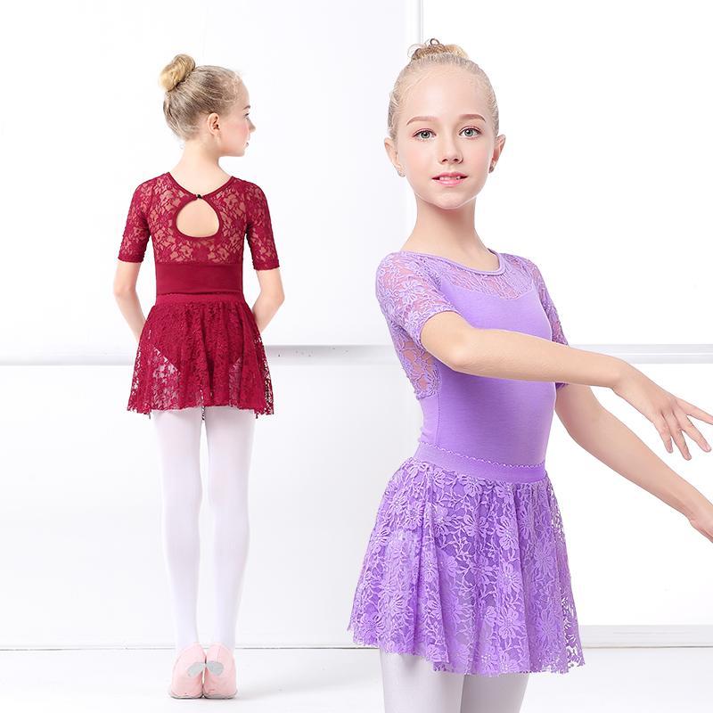 504195945 2018 Pink Gymnastics Ballet Dress Leotards Toddler Girls Dance ...