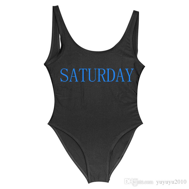 SATURDAY Women Swimsuit One Piece Swimwear Swimming Suit Women' Bikinis 2018 Monokini Lining Brazilian One-Piece White Beachwear YWXK