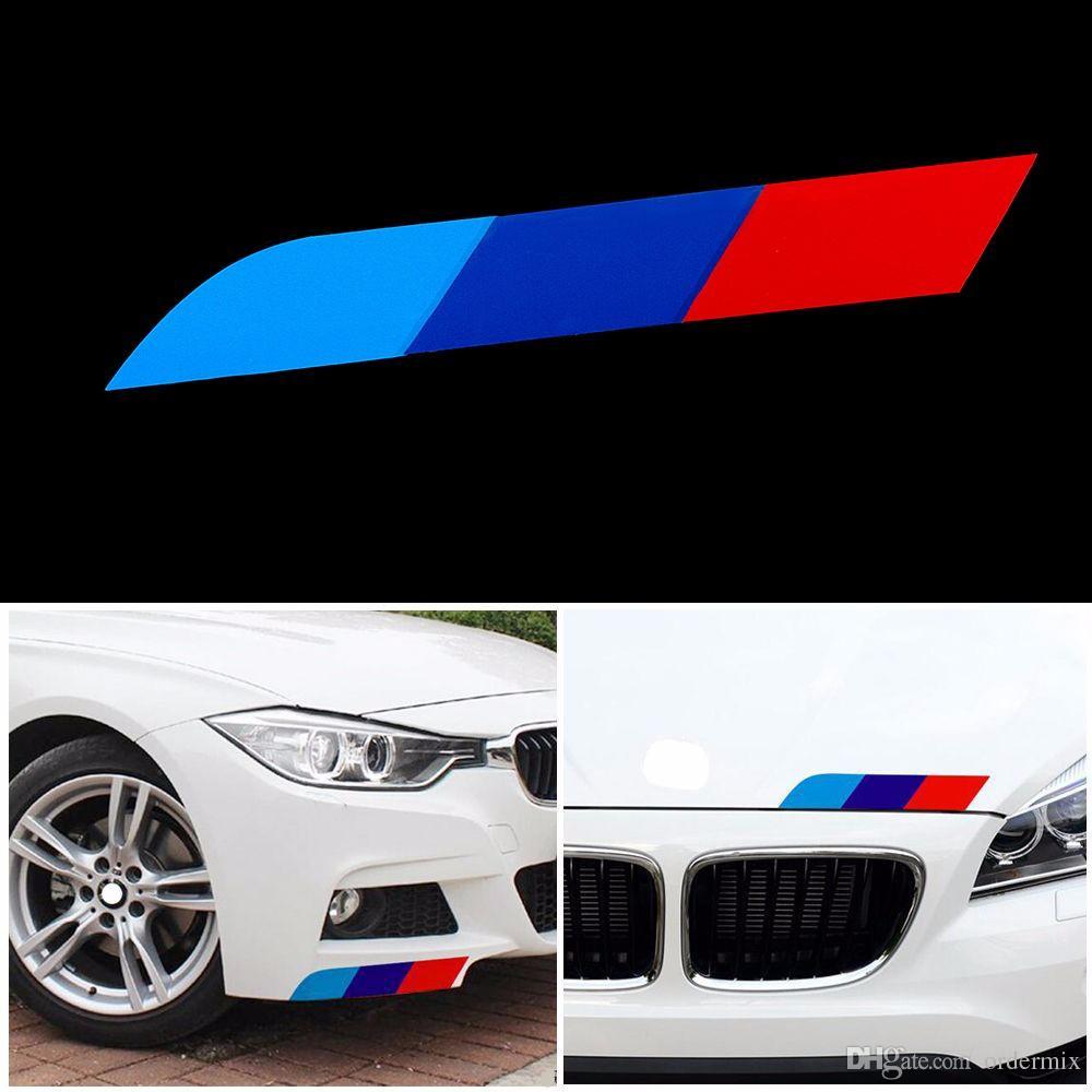 4 STÜCKE Neue PVC Auto SUV Aufkleber Auto-Styling Tricolor Dekoration Aufkleber für BMW X1 X3 X5 X6 X7